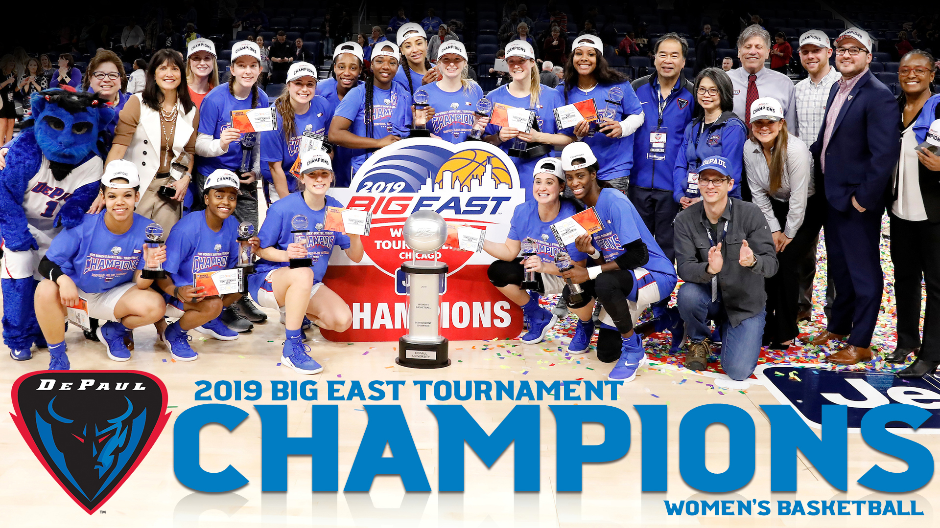 DePaul Women's Basketball BIG EAST champions 2019