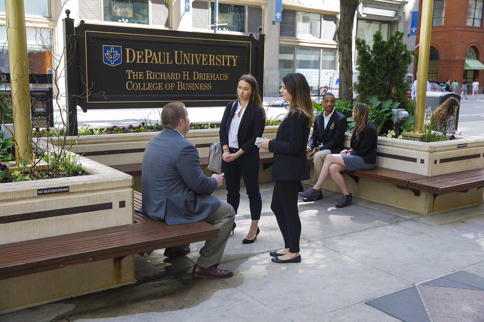 Driehaus College of Business students in Loop Campus