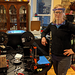 Faculty and students use 3D printers to make face shields, face mask covers