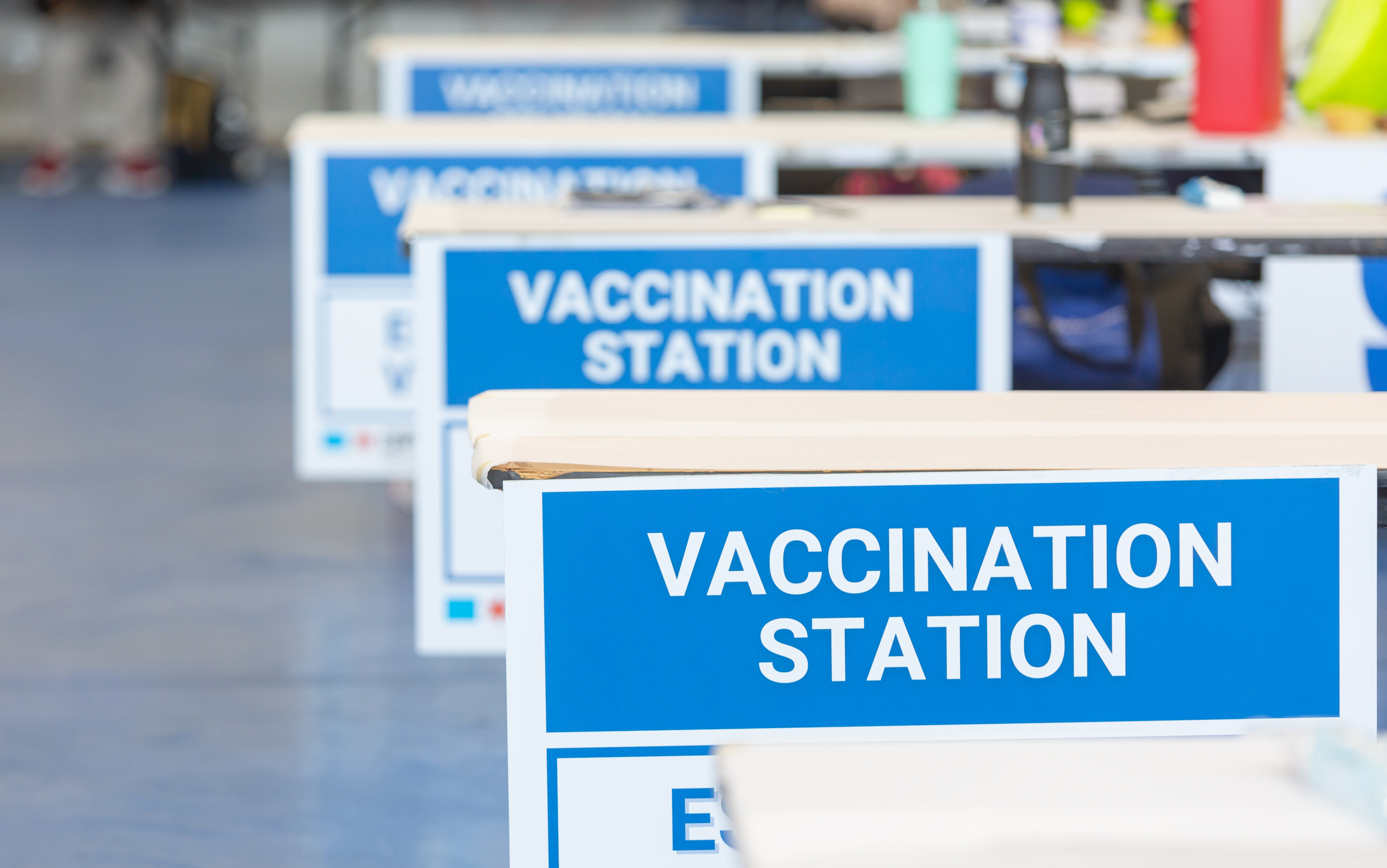 Vaccination Station Signs