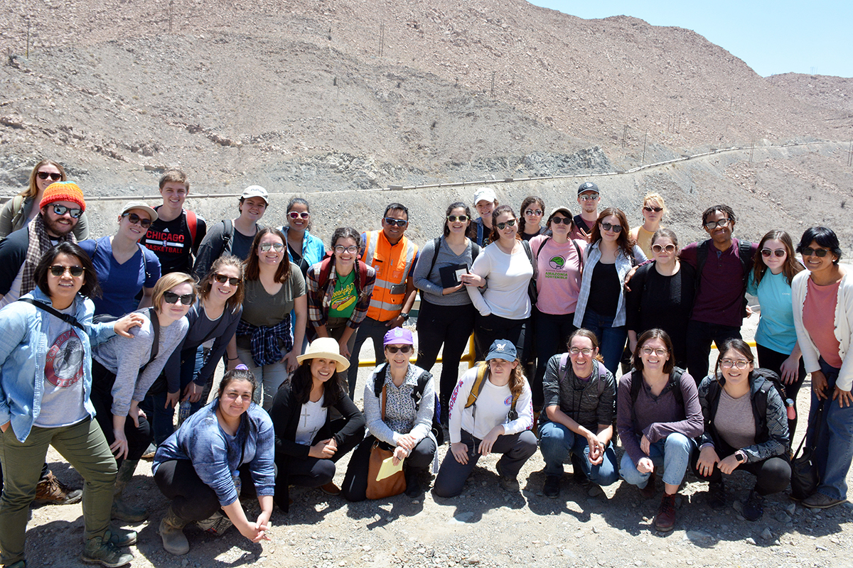 DePaul students and faculty visited the Cerro Verde mine in Peru during a recent winter break study abroad trip that looked at mining and deforestation of the Amazon. (Photo courtesy of Stephanie Prime Eguiluz, Sociedad Cerro Verde)