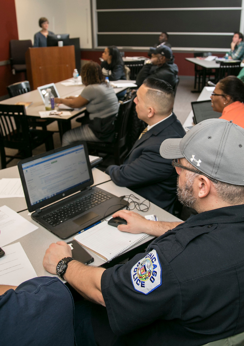Law enforcement professionals learn in cohorts