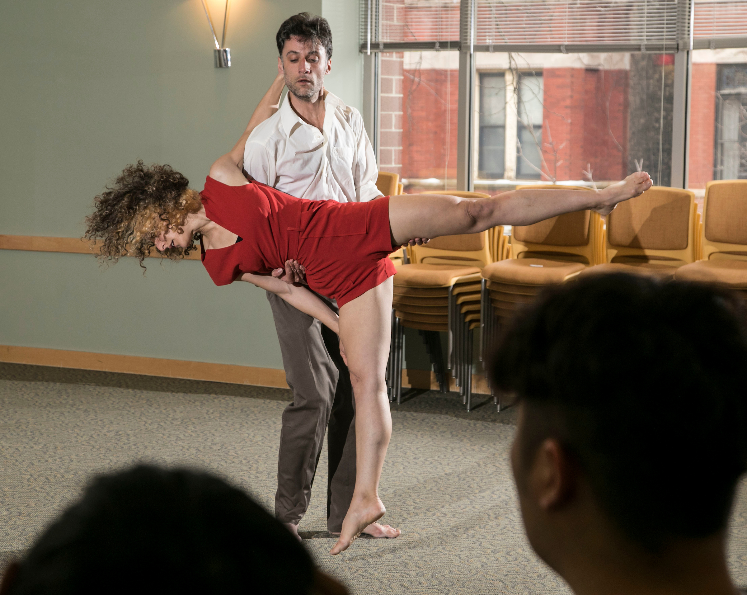 Miriam Engel, artistic director of Jerusalem's Angela Dance Company, and her husband and dance partner, Sergey Shamota