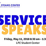Attend 10th annual Service Speaks event