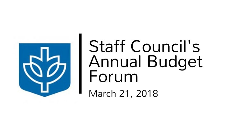Staff Council budget forum