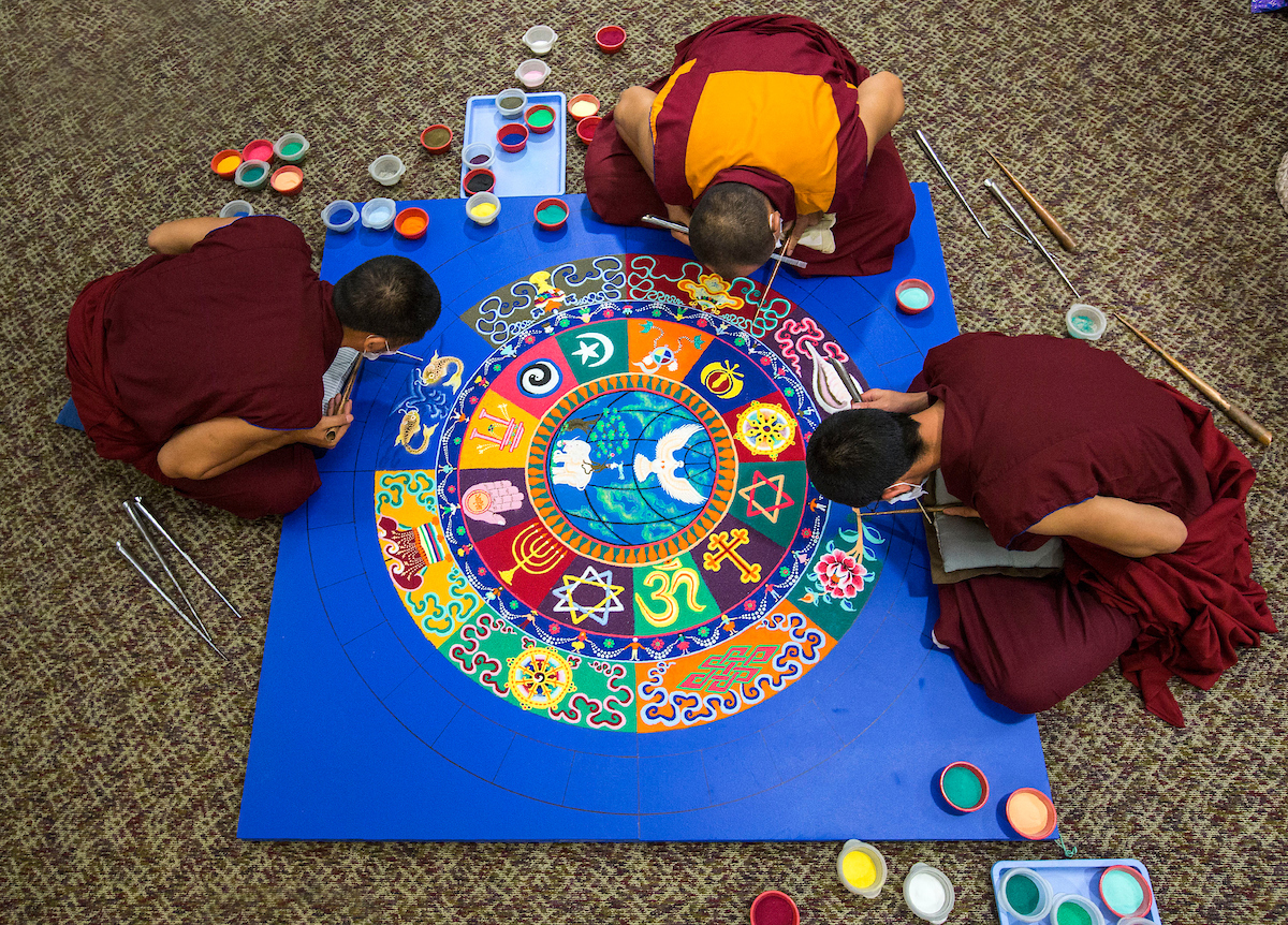 the Tibetan Monks of Drepung Gomang Monastery