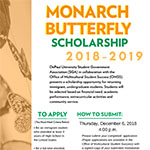 Students: Monarch Butterfly Scholarship applications due Dec. 6