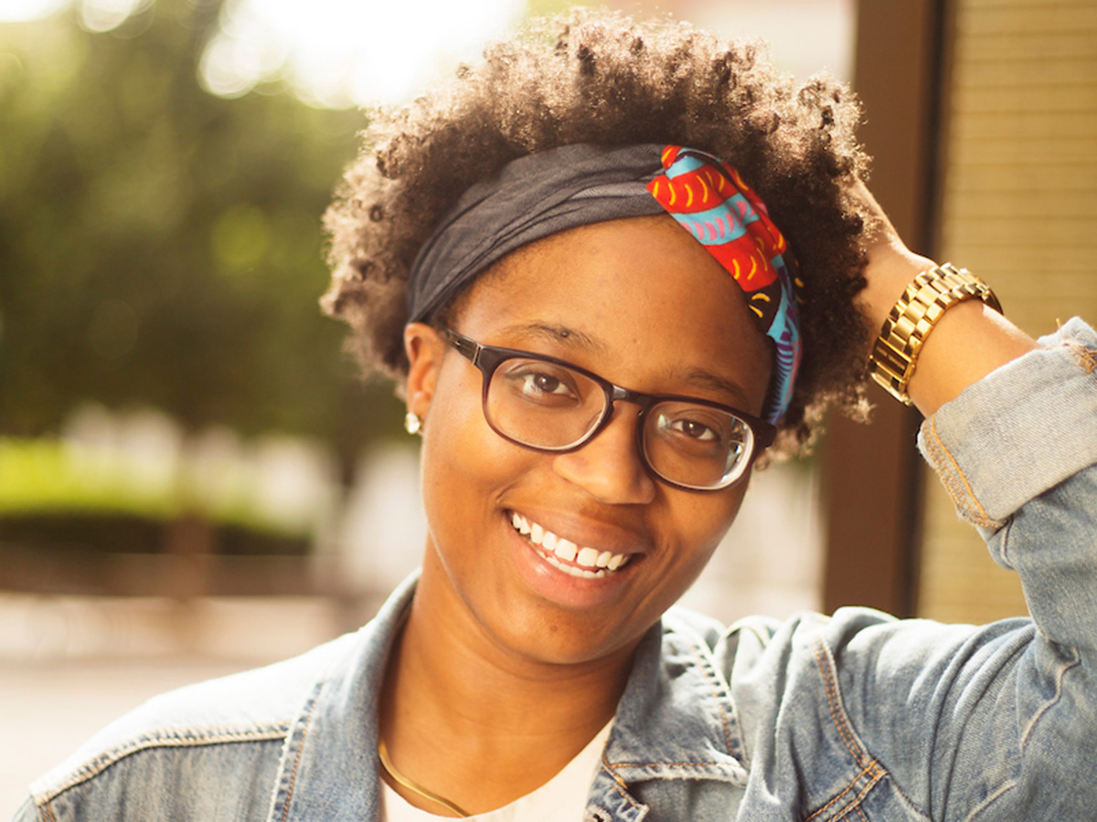 DePaul graduate student and 2018 TEDxDePaulUniversity speaker Whitney Spencer is the recipient of a 2019 Roger Ebert Fellowship. (DePaul University/Jamie Moncrief)