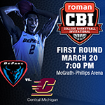 DePaul Hosts Central Michigan Wednesday in Lincoln Park in Round One of CBI