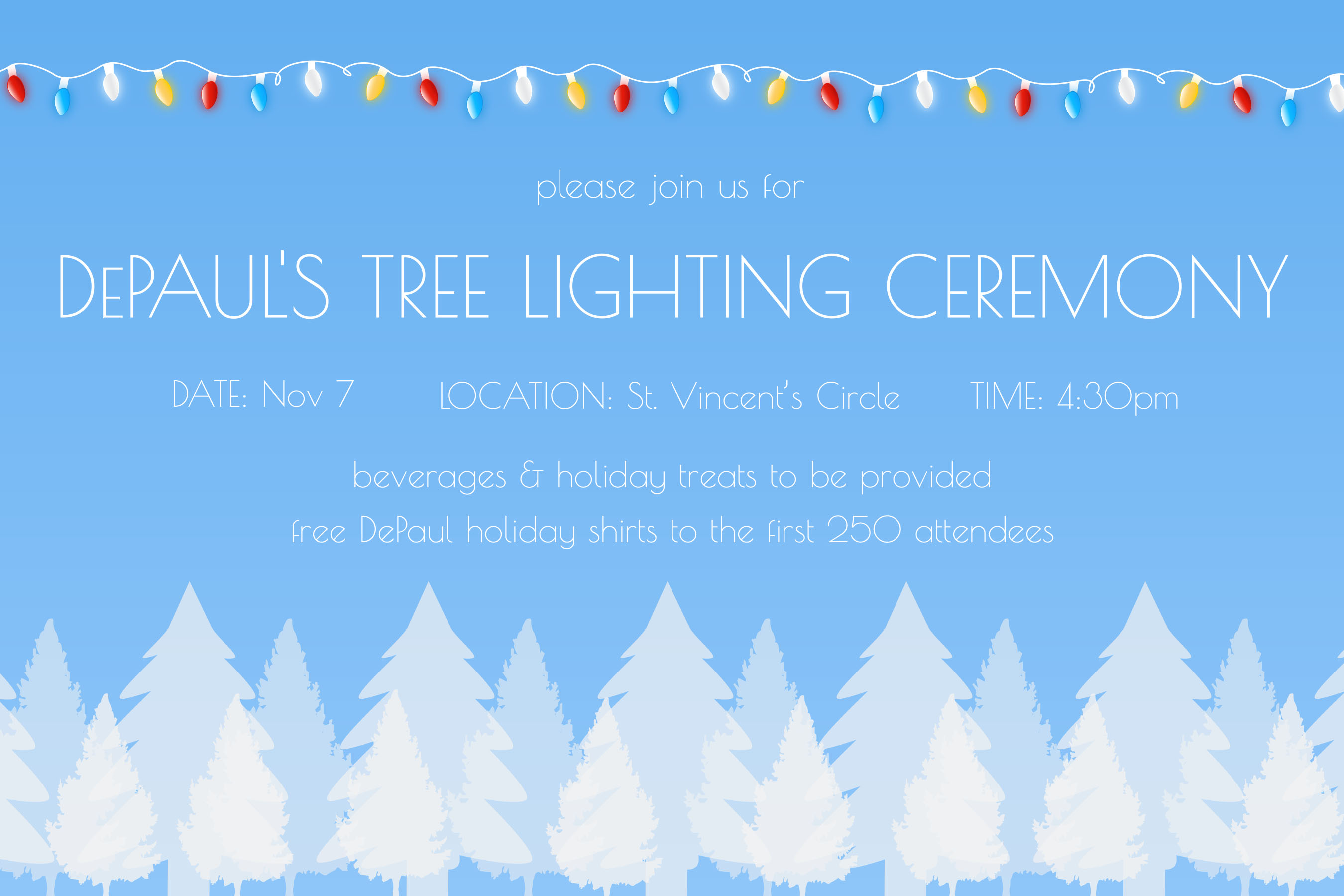 DePaul tree lighting