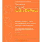 Faculty and staff: Volunteers needed for Thanksgiving MEAL with DePaul