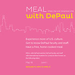 Faculty and staff: Become a MEAL with DePaul host