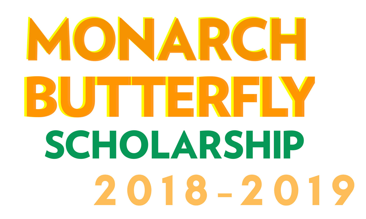 Monarch Butterfly Scholarship flyer