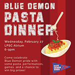 Faculty and staff: Volunteer at the Blue Demon Pasta Dinner
