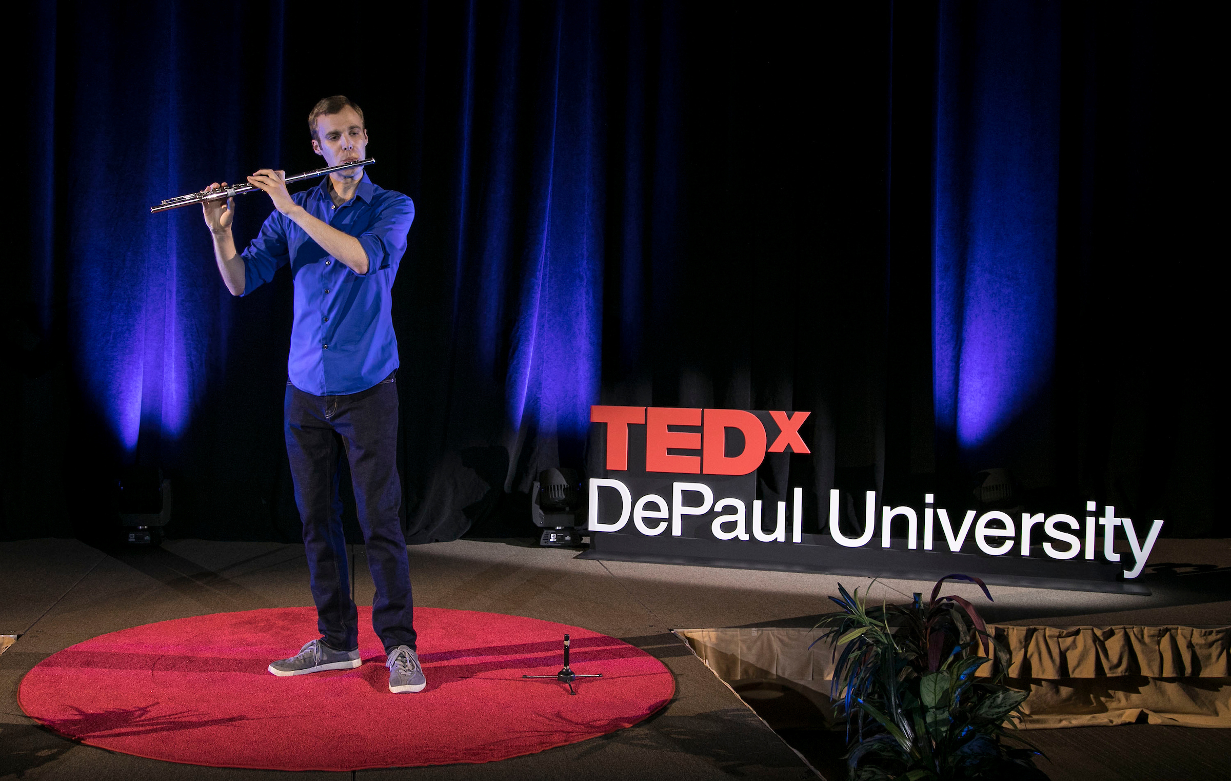 Break free of the routine on Thursday, May 28, and join flutist, DePaul School of Music alumnus and 2018 TEDxDePaulUniversity speaker James Brinkmann for an interactive concert. At 12:30 p.m., Brinkmann will perform three solo pieces, and participants will be led through a creative exercise to depict their experience with his music through words or drawings.