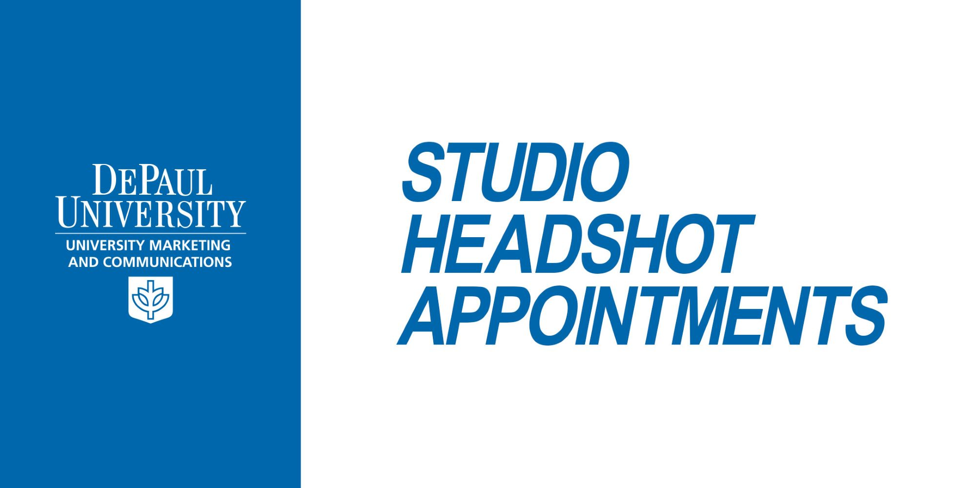 Monthly Headshot Appointments Available