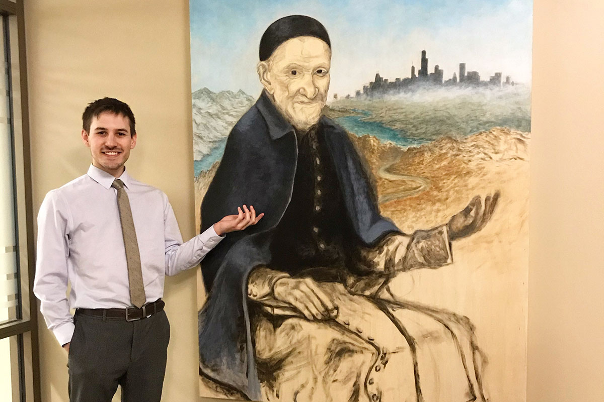 Cole Andersen dedicates artwork to Vincent de Paul
