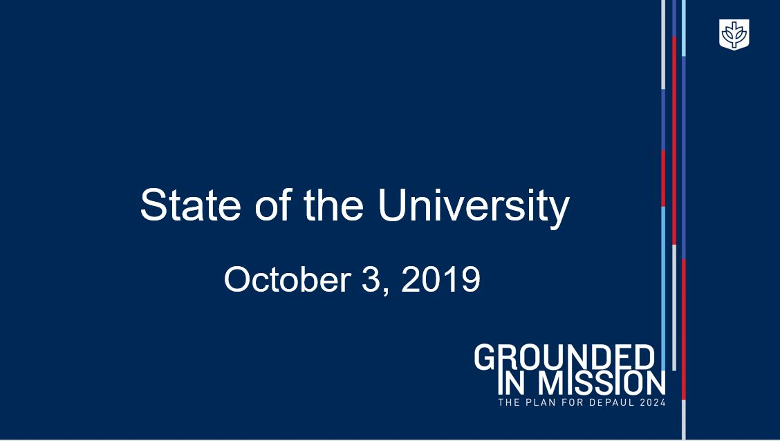 State of the University 2019