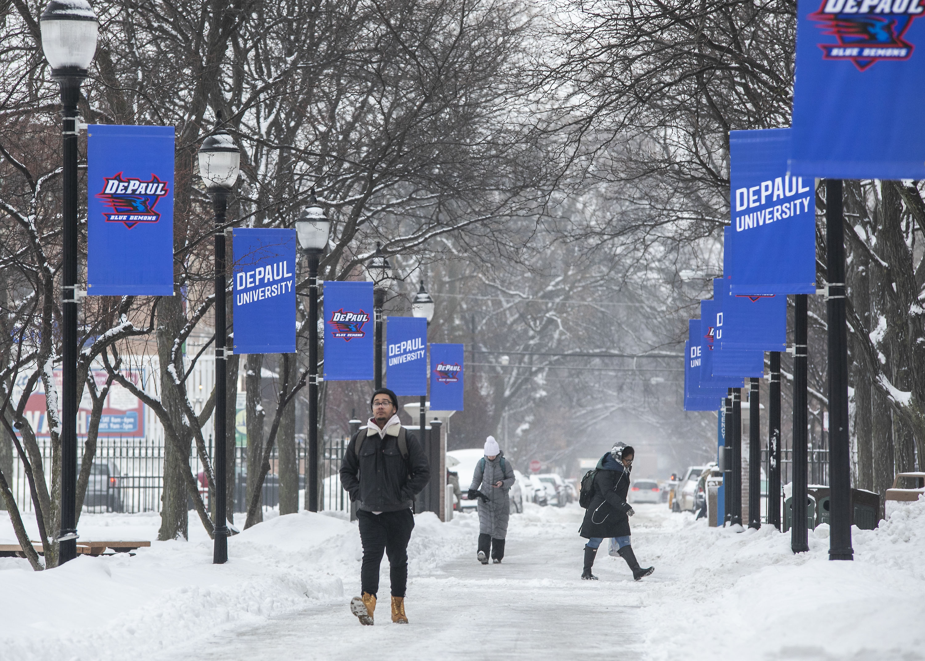 Snow on the Lincoln Park Campus
