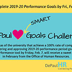 DePaul Loves SMART Goals Challenge