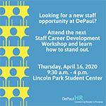 Stand out as an internal applicant at DePaul