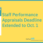 Deadline extended for performance appraisals