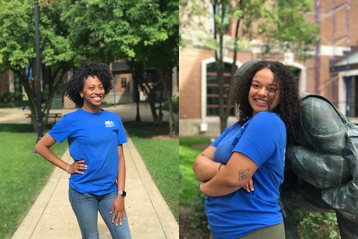 Christine Augustin, a senior psychology major with a minor in sociology, and Claire Newby, a senior majoring in health sciences and minoring in Spanish, are both peer health educators as part of the Health Education Action Team out of the office of Health Promotion and Wellness.