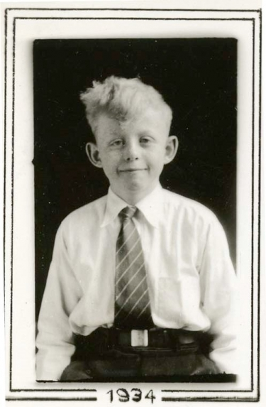 Munster, age 12, at St. Vincent Grammar School. (DePaul University/University Archives)