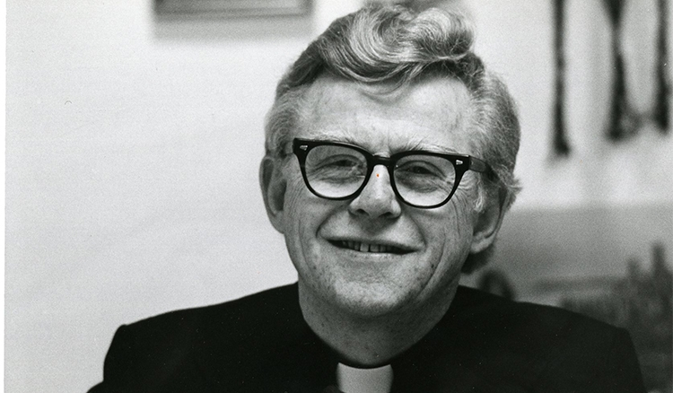 The Rev. Thomas Munster, C.M., who dedicated decades of service not only to the university, but also to the Lincoln Park community at large. (DePaul University/University Archives)