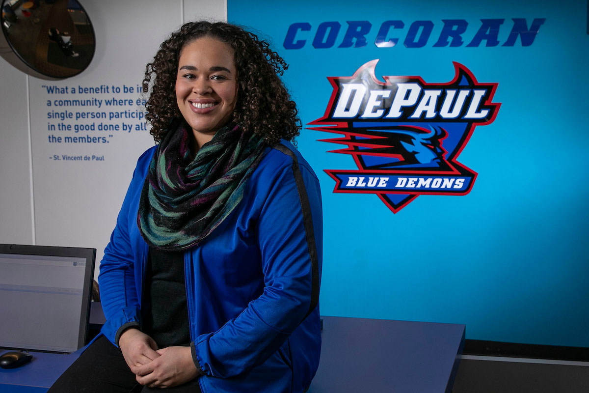 Since 2016, Brittany Royce has been the residence hall director and resident education administrator for Corcoran and McCabe Halls on the Lincoln Park Campus. (DePaul University.Jamie Moncrief)
