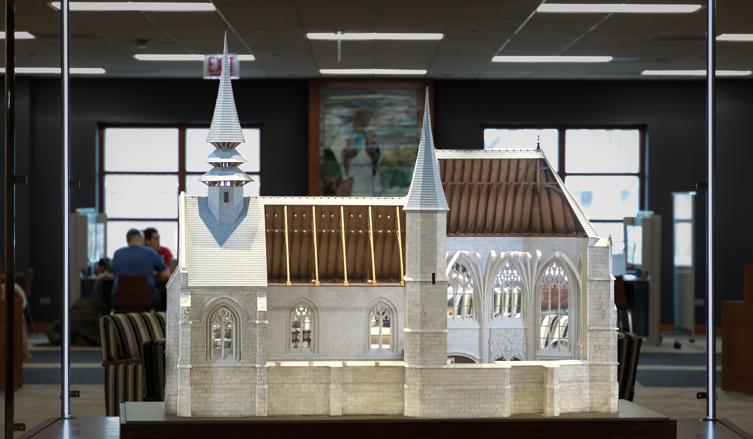 Image of scale model of Folleville church