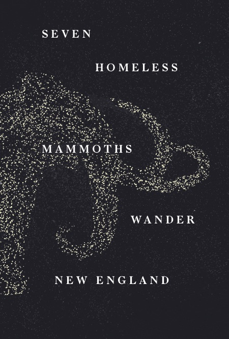 Illustration of Seven Homeless Mammoths Wander New England production