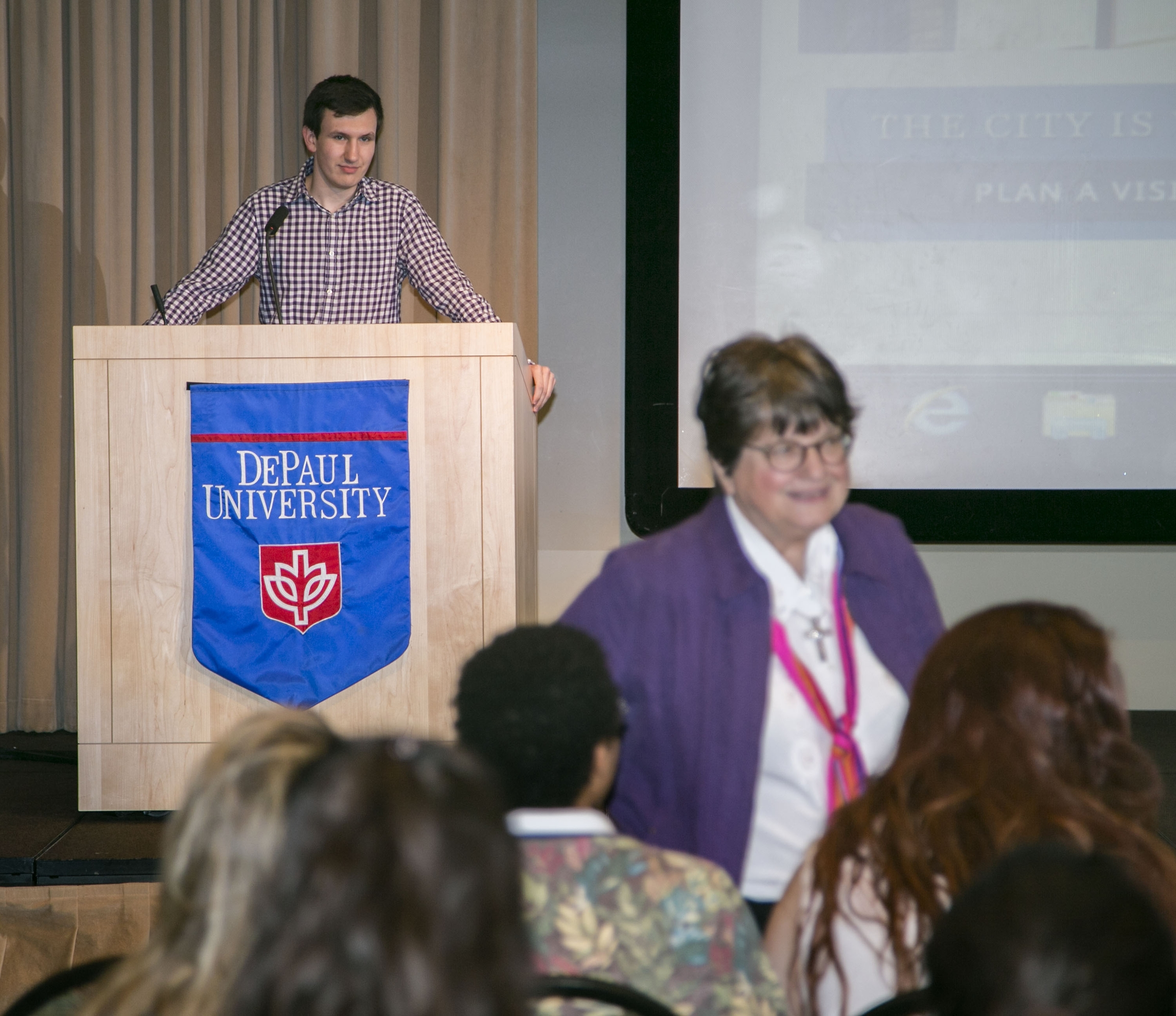 Griffin Hardy at Sister Helen Prejean event