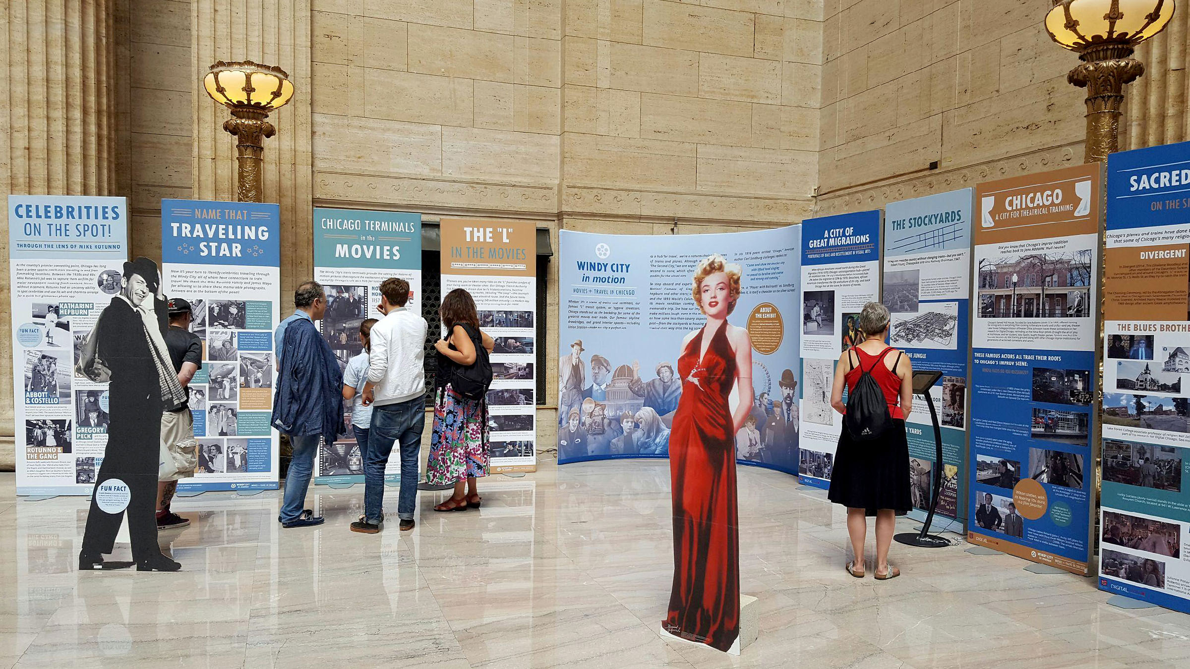 Windy City in Motion exhibit at Union Station in Chicago