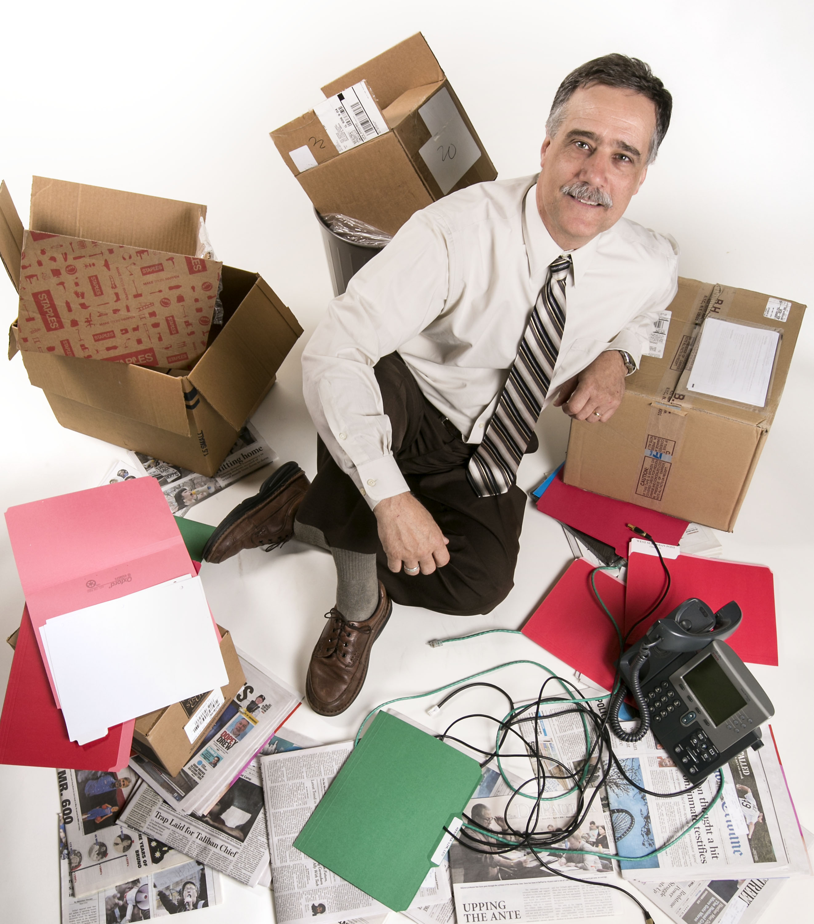 "Joseph Ferrari, a professor of psychology at DePaul University in Chicago co-authored a study which looked at how an overabundance of possessions that collectively create chaotic and disorderly living spaces. ""It's the danger of clutter, the totality of one's possessions being so overwhelming that it chips away at your well-being, relationships, and more, drowning in a sea of stuff,"" Ferrari said. (DePaul University/Jamie Moncrief)"