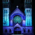Lighting design students illuminate architecture of Lincoln Park church
