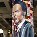 Murals under the Chicago 'L' immortalize DePaul University's diverse history