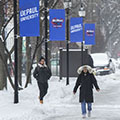 DePaul University cancels classes for Tuesday evening, Jan. 29, and all day Wednesday, Jan. 30, due to extreme weather forecast
