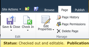 Sharepoint Ribbon