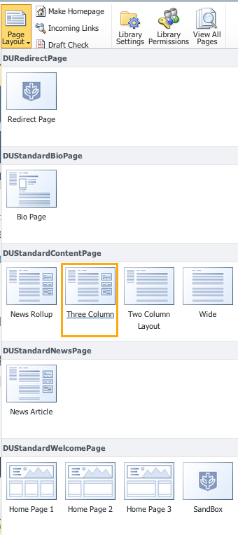 Changing The Page Layout Basics Sharepoint Information