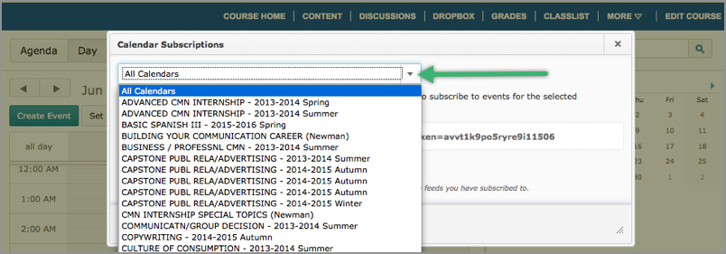 Changing a date in D2L's Content area