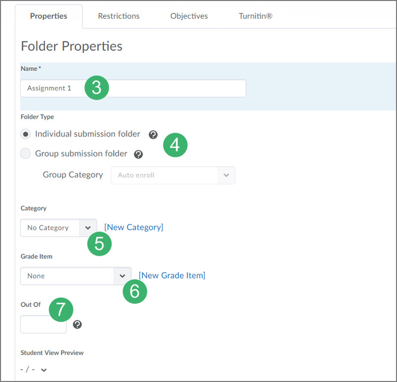 Creating A New Submission Folder In D2l Submissions Tools