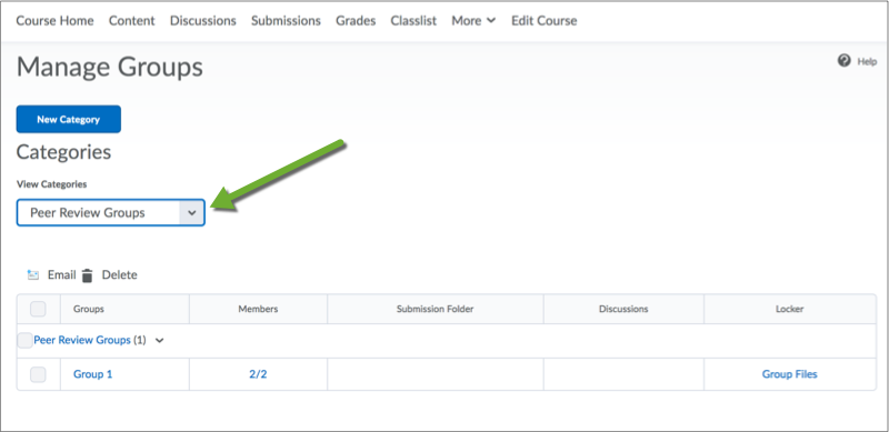 Adding Students To Groups In D2l Groups Tools Desire2learn