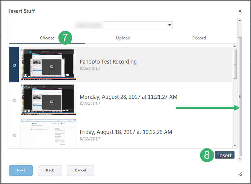 Embedding A Panopto Video In A Page In D2l Panopto Tools