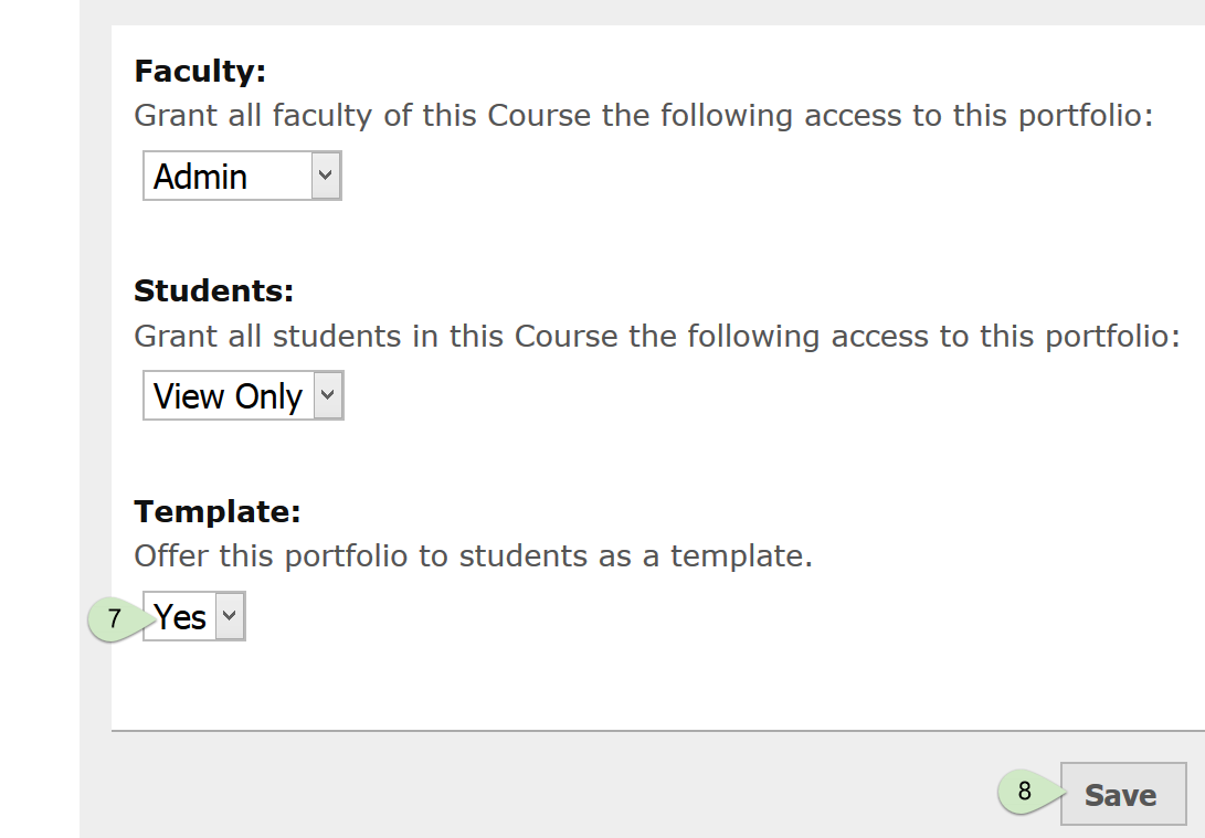 digication technology teaching guides depaul university under the template heading select yes from the drop down menu