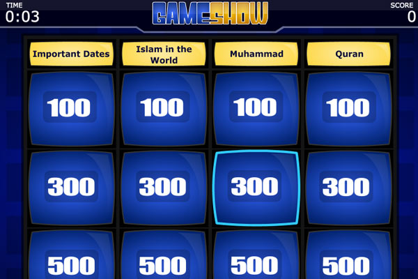 Screenshot of Islam quiz game