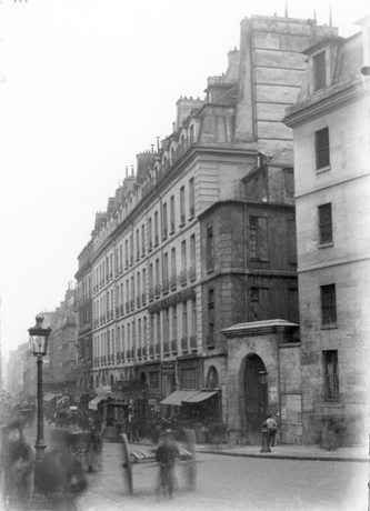 Prison Saint-Lazare, façade, looking south, rue Saint-Denis