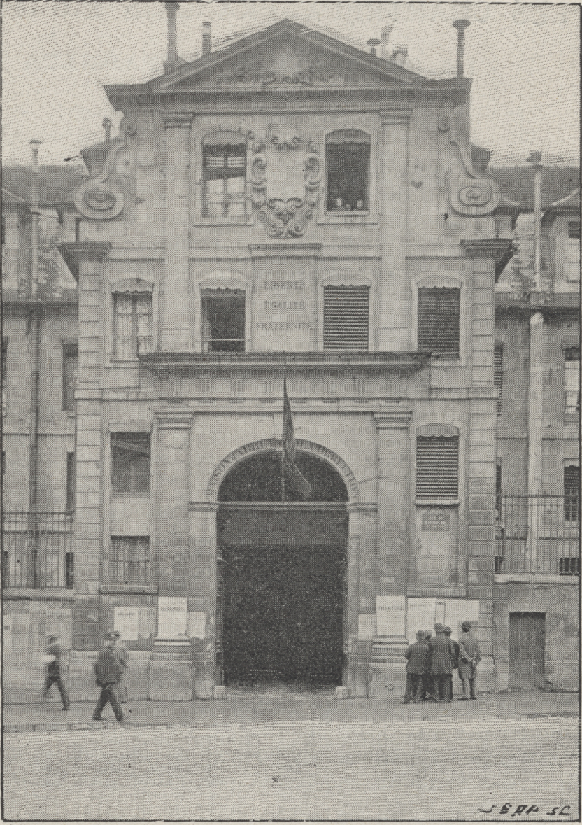 Prison Saint-Lazare, exterior view, entrance, rue Saint-Denis
