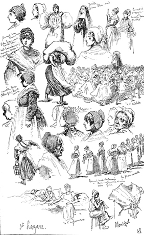 Sketches of prisoners and nuns, Saint-Lazare