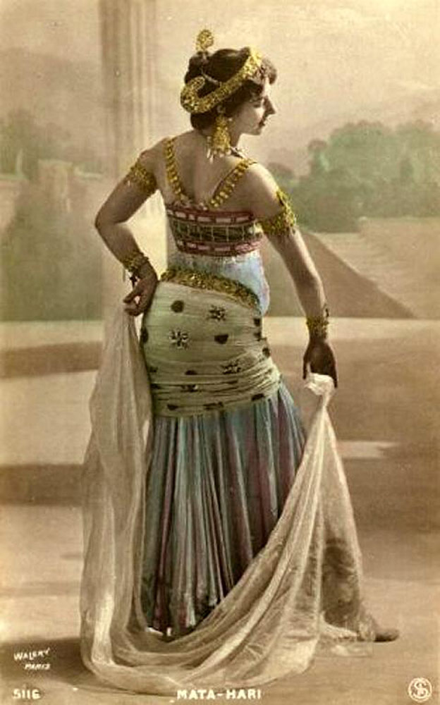 Postcard of Mata Hari in Paris